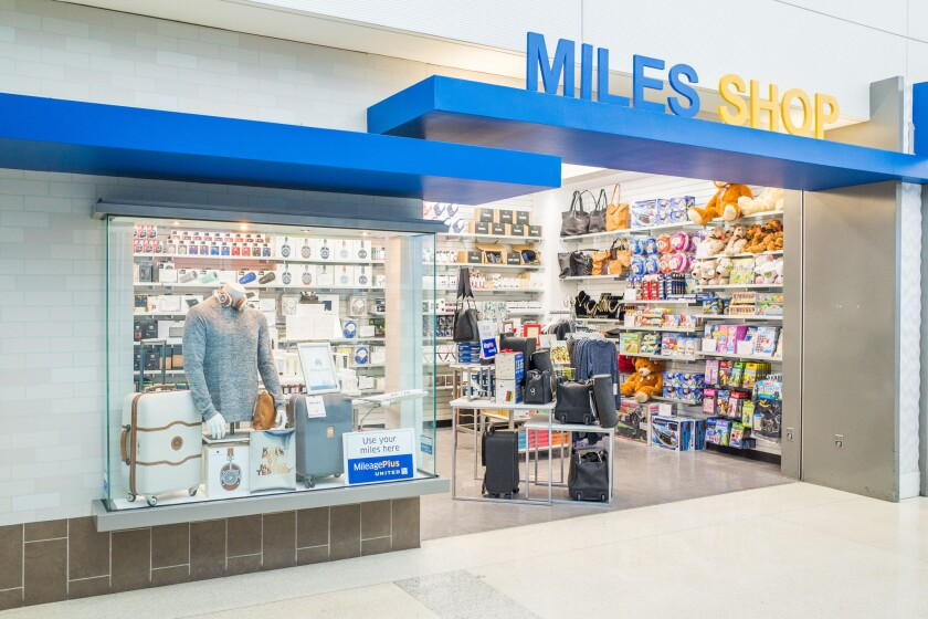 The new Miles Shop at Newark International Airport.