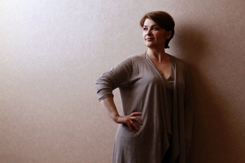 "Romanian soprano Adina Nitescu stars as the orphan Nedda in the San Diego's production of ""Pagliacci."" K.C. Alfred • U-T"