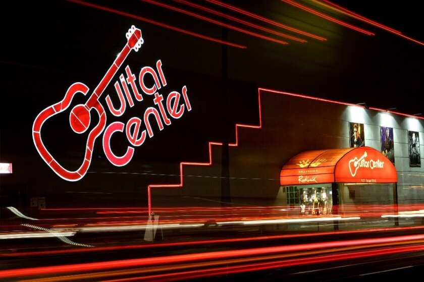 This Guitar Center store is on Sunset Boulevard in Hollywood.
