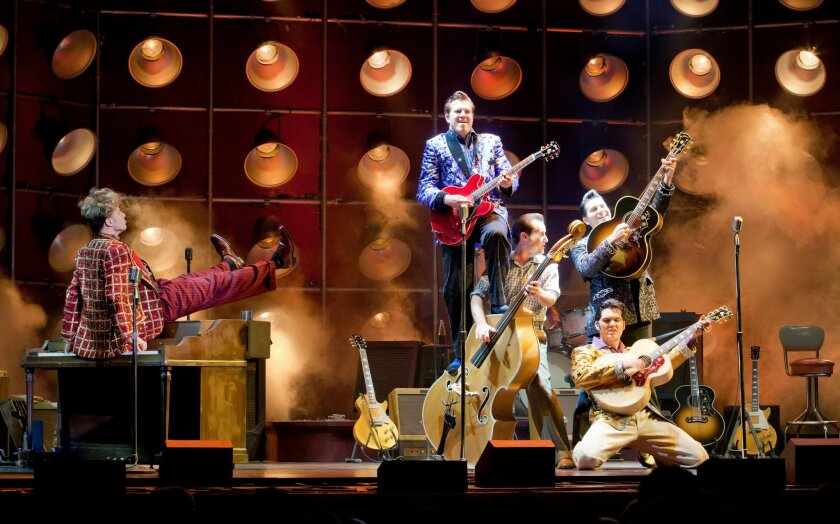 "The touring musical ""Million Dollar Quartet"" hits the San Diego Civic Theatre next week."