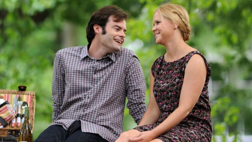 """Schumer, seen here with Bill Hader in 2015's """"Trainwreck,"""" lost weight for the movie but decided she would never do it again after filming was over."""