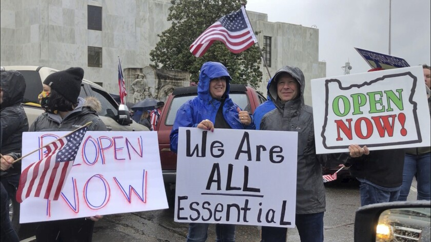 Coronavirus protesters in Oregon