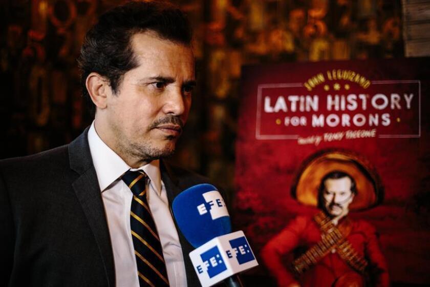 El actor colombiano John Leguizamo habla con Efe durante una conferencia de prensa. EFE/Archivo