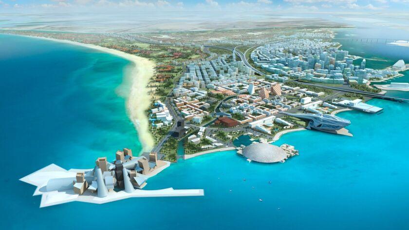 A decade-old rendering of Abu Dhabi's Saadiyat Island Cultural District.