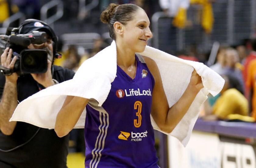 Phoenix Mercury guard Diana Taurasi averaged 20.3 points and 6.2 assists this season.