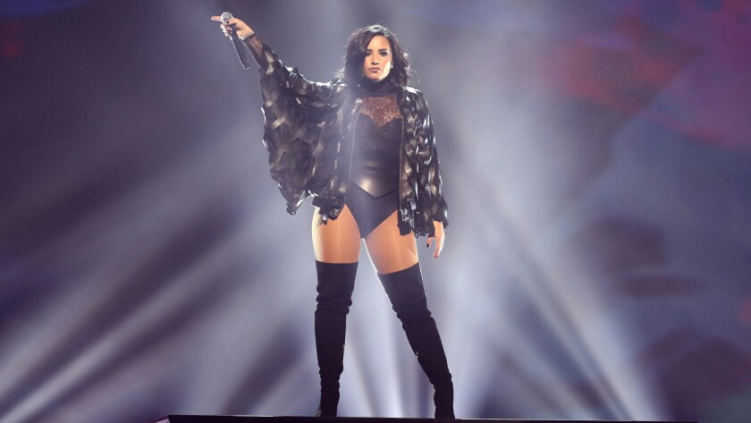 Demi Lovato performs at TD Garden on July 20, 2016, in Boston.