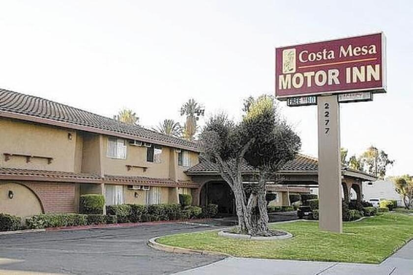 The Costa Mesa Motor Inn generated 568 calls for police service in 2012 -- the most of any motel or hotel property in Costa Mesa, records show.