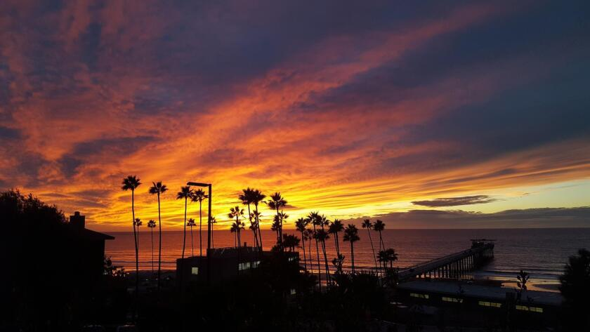 A recent sunset from above Scripps Pier in La Jolla