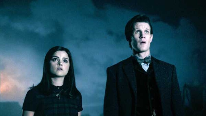 "Jenna-Louise Coleman and Matt Smith in the season finale of ""Doctor Who"" on BBC America"