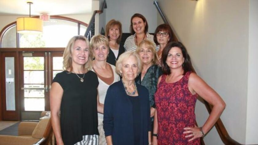 Crystal Ball Gala Committee members, Back row (right to left): Sheri Hallis, Anna Leyrer (Special Events Coordinator), Kim Fandel; Middle row: Mary Ann Bosanac, Terry Cohler; Front row: Kayleen Huffman, Sharon Stein, Carolyn Konecki.