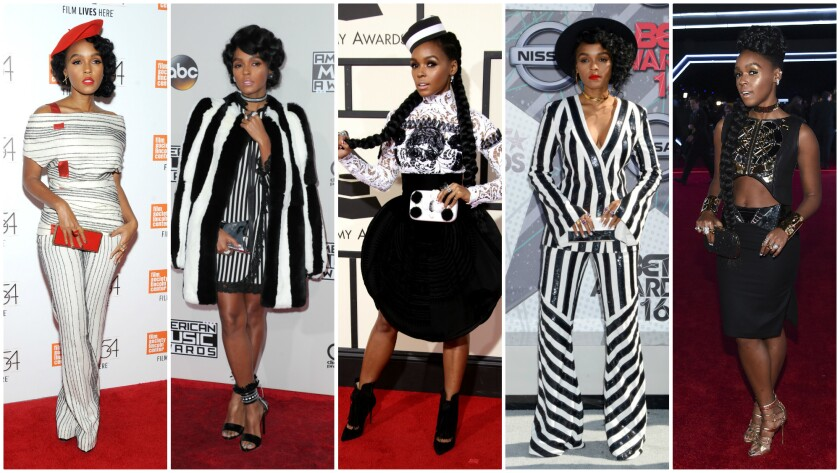 For singer-actress Janelle Monae, black and white play a major role in her wardrobe.