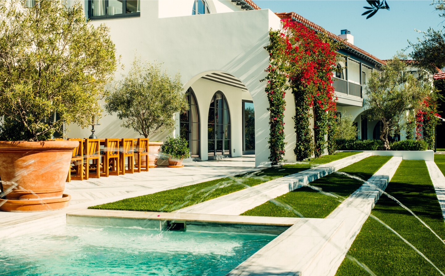 Built in 1929, the Mediterranean mansion holds seven bedrooms and nine bathrooms in 12,000 square feet.