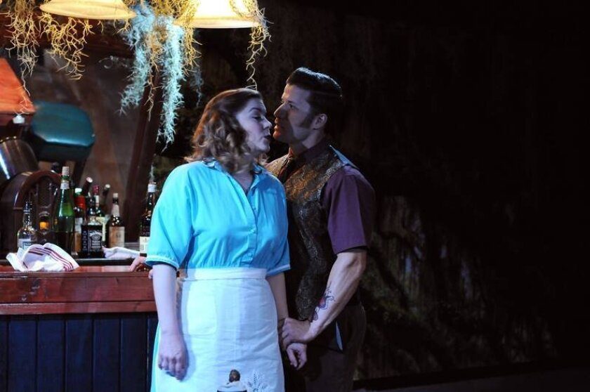 """Kristin Woodburn and Jake Rosko in ion theatre's """"The Jacksonian."""""""