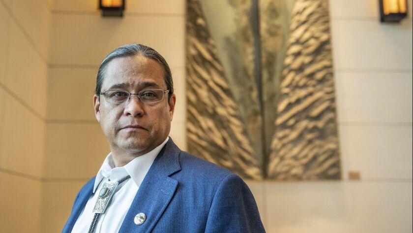 Mark Macarro, tribal chair of the Pechanga Band of Luiseno spoke at the UC Board of Regents meeting