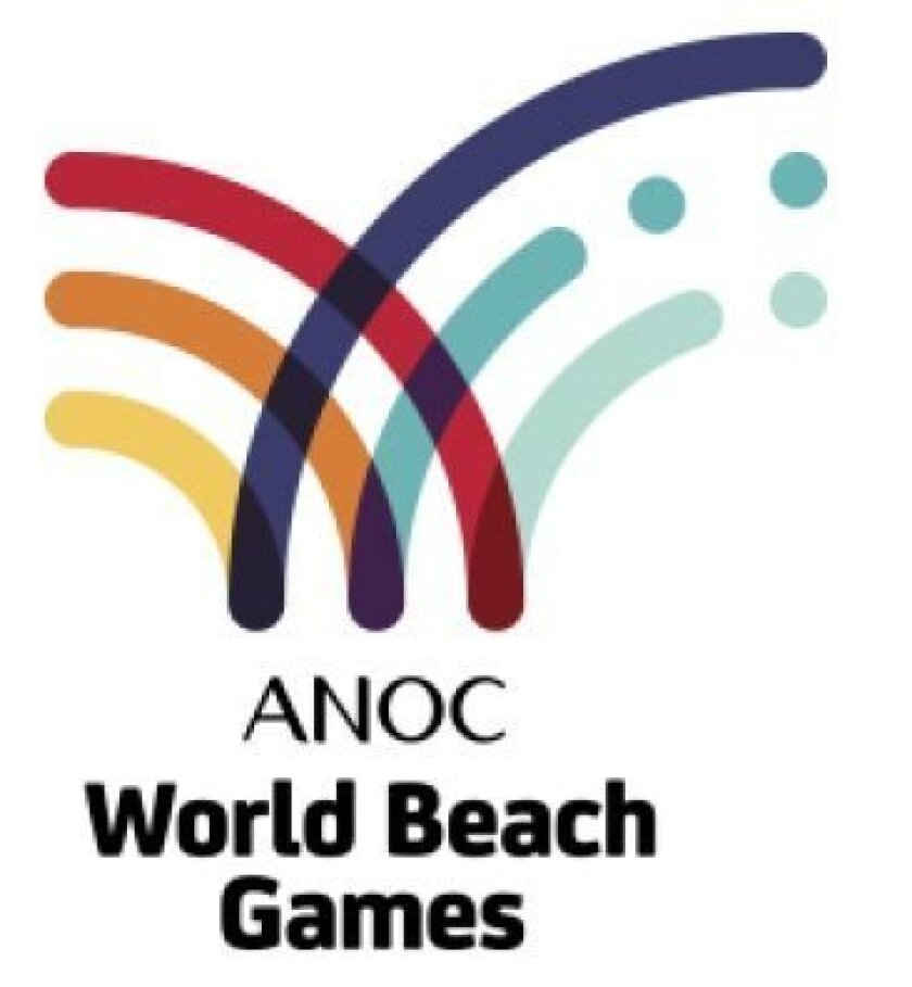 This is the World Beach Games logo of the Association of National Olympic Committees which is sponsoring the initial event in San Diego in 2017. A contest is under way to design a San Diego logo for the games.