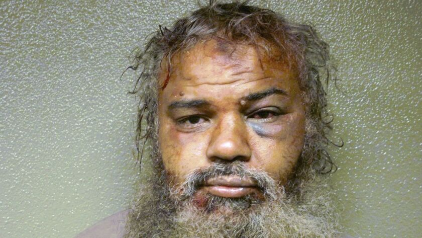 Ahmed Abu Khattala pictured shortly after his apprehension by U.S. special forces south of Benghazi, Libya, in June 2014.