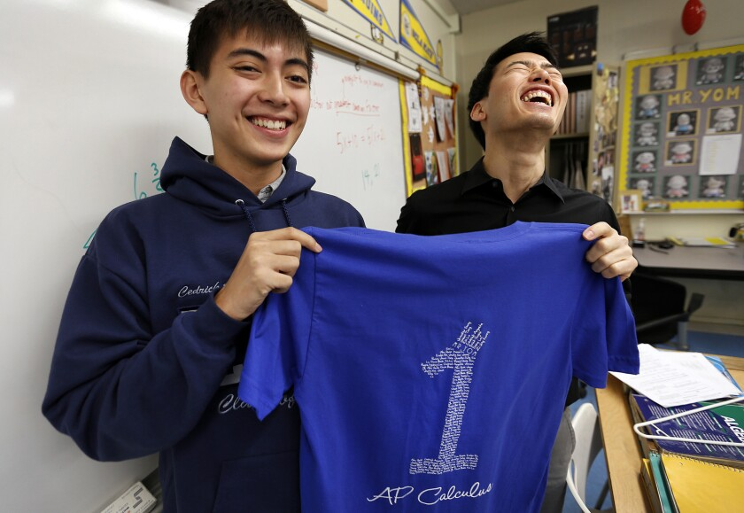 Teen gets a perfect score on AP Calculus exam