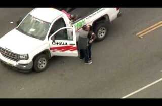 Police pursuit of stolen U-haul ends in Montebello standoff