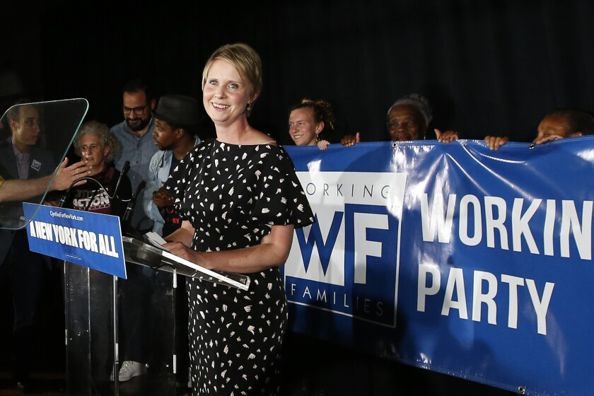 The future of Cynthia Nixon as the Working Families Party gubernatorial candidate will be decided Wednesday..