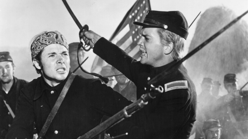 "The 1951 film ""The Red Badge of Courage"" starred Audie Murphy, left. Ross turned her attention to th"