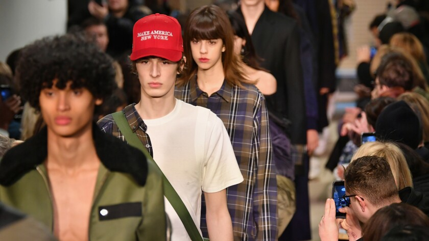 Models walk the runway for the Public School collection during New York Fashion Week.