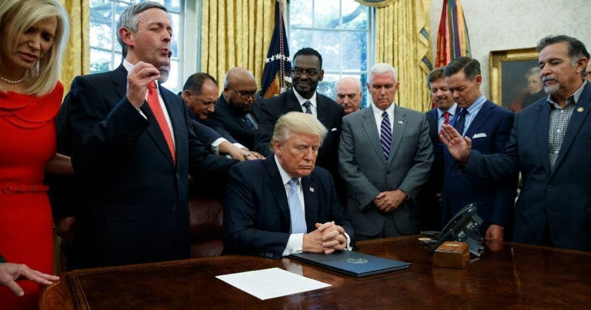 Christians don't love Trump, they just fear the Democrats