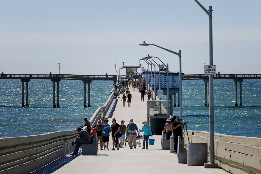 The Ocean Beach Pier reopened June 9 after being shuttered for months during the coronavirus pandemic.