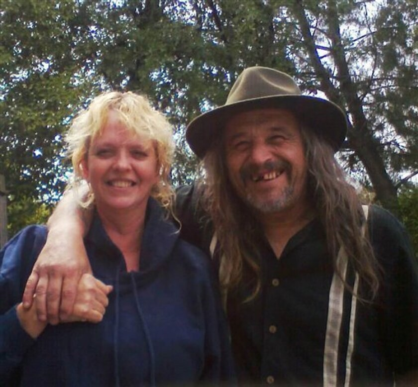 This undated photo provided by Karanda Williams shows Daniel and Belinda Conne. The couple and their adult son were found injured but alive Saturday, Feb. 4, 2012 after they got lost while picking mushrooms and survived six days deep in the Oregon coastal forest, taking shelter part of the time in a hollowed-out tree. Belinda and Daniel Conne, both 47, and their 25-year-old son, Michael, were spotted by a helicopter pilot and later flown to a hospital. Curry County Sheriff John Bishop said Daniel Conne suffered a back injury, Belinda Conne had hypothermia, and their son Michael had a sprained foot. All three also were dehydrated and hungry. (AP Photo/Karanda Williams)