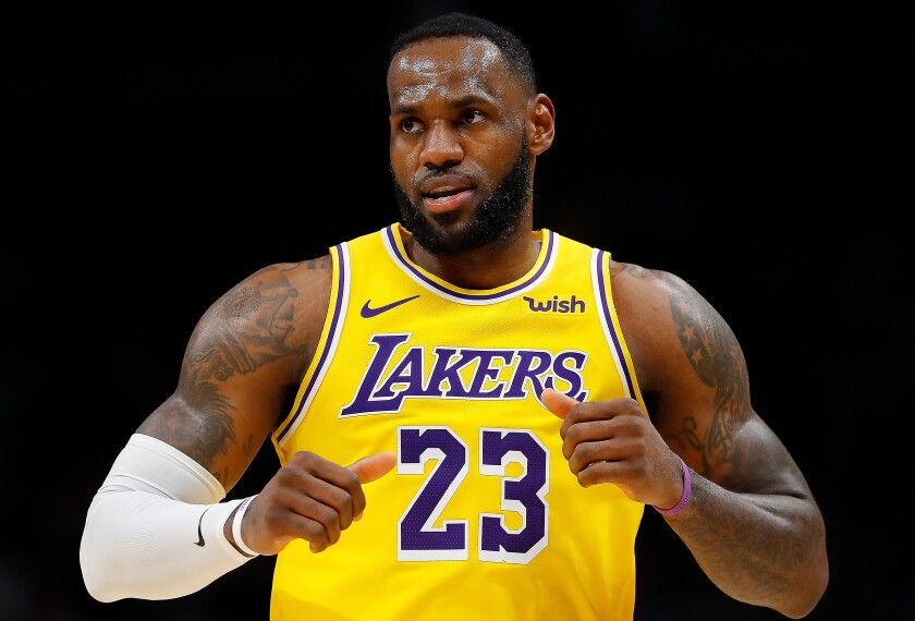Lakers star LeBron James will miss his first game of the season Sunday against the Denver Nuggets.