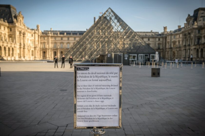 The Louvre in the aftermath of the Paris terrorist attacks