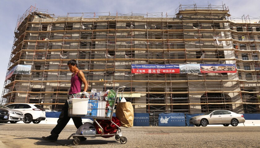 The Sheraton hotel on Valley Boulevard in San Gabriel could open by the end of the year.