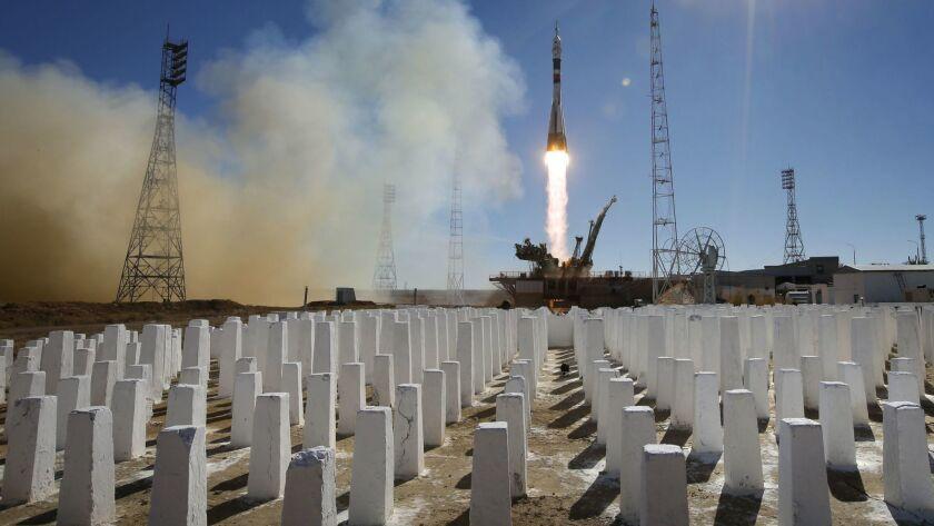 Soyuz MS-10 spacecraft launch, Baikonur, Kazakhstan - 11 Oct 2018