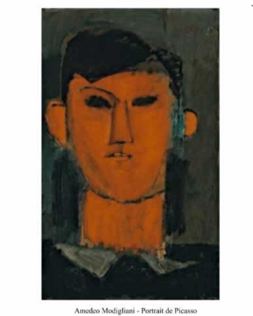 'Portrait de Picasso' by Amedo Modigliani