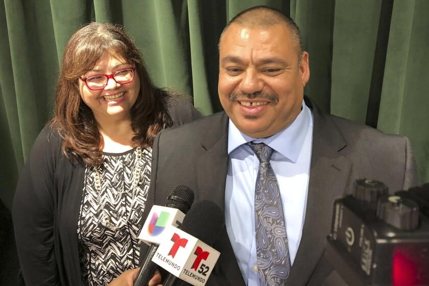 Ruben Martinez Jr. and his wife, Maria