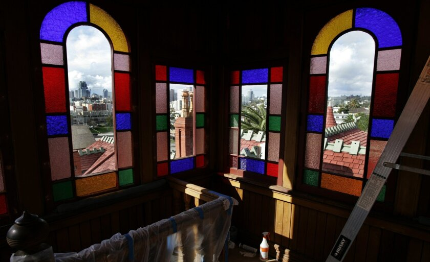 Villa Montezuma, a 122-year-old house, dazzles visitors with its elaborate woodwork and stained-glass windows. (Bruce K. Huff / Union-Tribune)