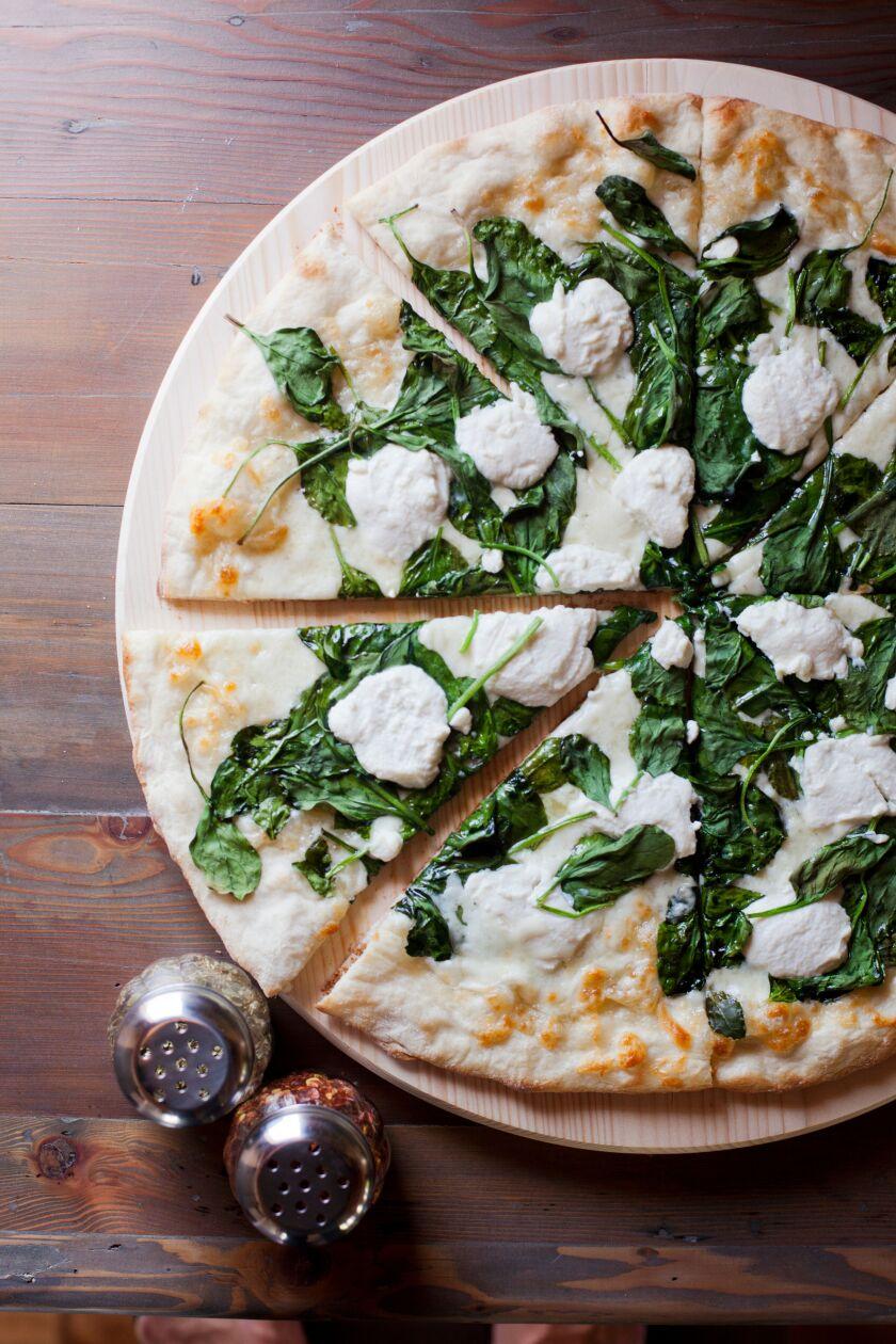 Landini's spinach ricotta pizza
