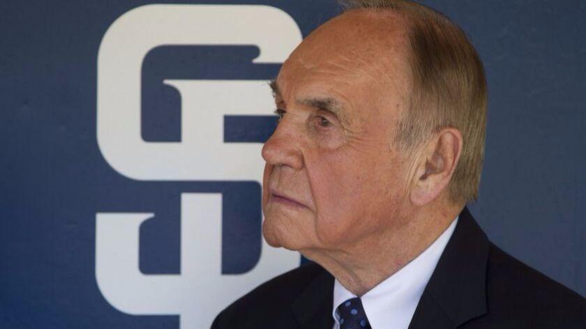 Sportscaster Dick Enberg