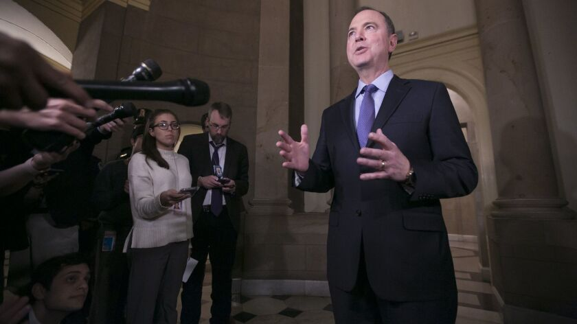 """We are not going to be intimidated or threatened by the president,"" said Rep. Adam B. Schiff."