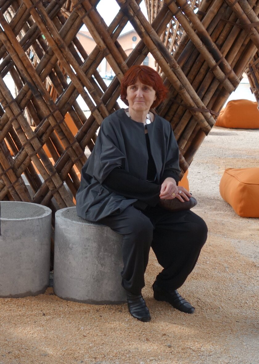 Shelley McNamara of Grafton Architects at the 2018 Venice Architecture Biennale
