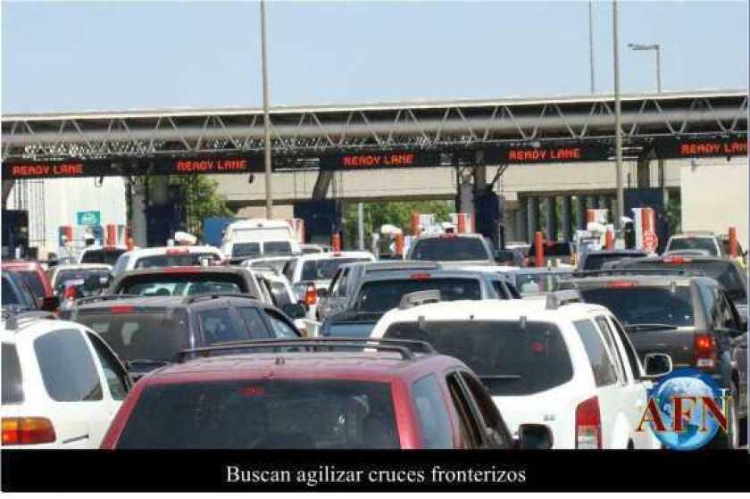 Buscan agilizar cruces fronterizos