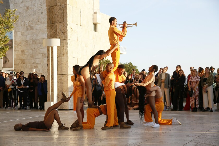 "Solange previewed a new site-specific performance ""Bridge-s"" at Getty Center on Monday. The performance will repeat Saturday and Sunday."