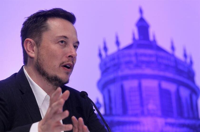 El inventor, físico y fundador de SpaceX, el sudafricano Elon Musk durante una conferencia de prensa. EFE/Archivo