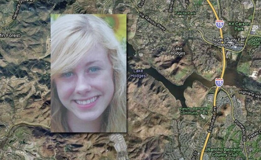 Poway High School student Chelsea King disappeared while jogging around Lake Hodges Thursday evening.