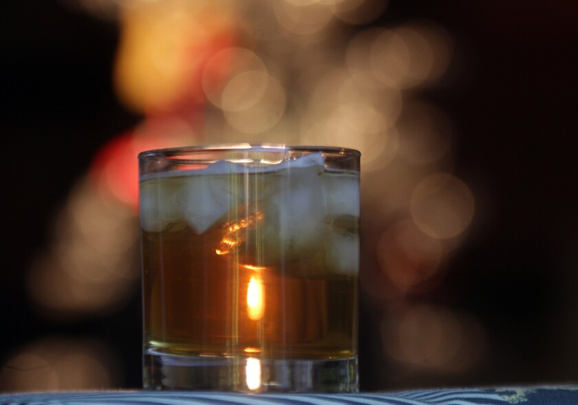 A hard cider and bourbon cocktail for the holiday season