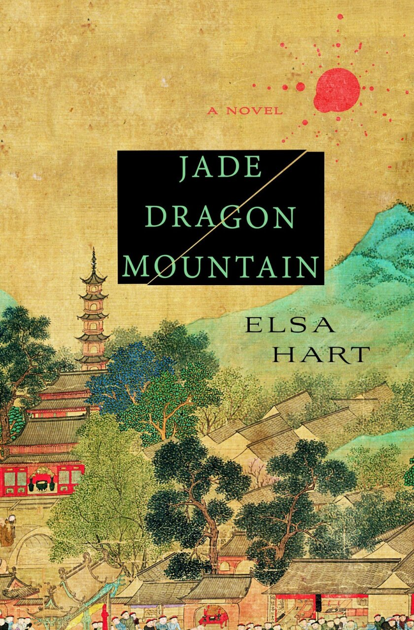 """This photo provided by Minotaur Books shows the cover of the book, """"Jade Dragon Mountain,"""" by author Elsa Hart. (Minotaur Books via AP)"""