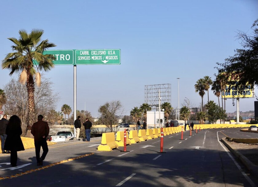Access to the medical and business lane will be through Paseo de los Héroes street in Tijuana