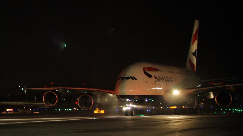 British Airways' Airbus A380 at LAX.