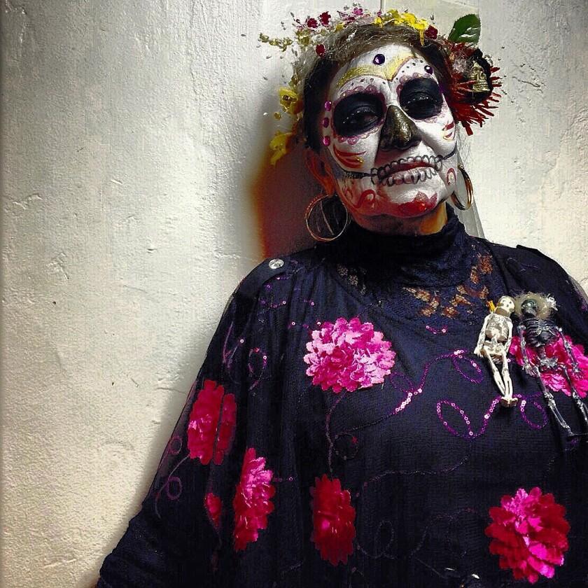 """ La Golondrina"" Day of the Dead, La Placita Olvera downtown Los Angeles"