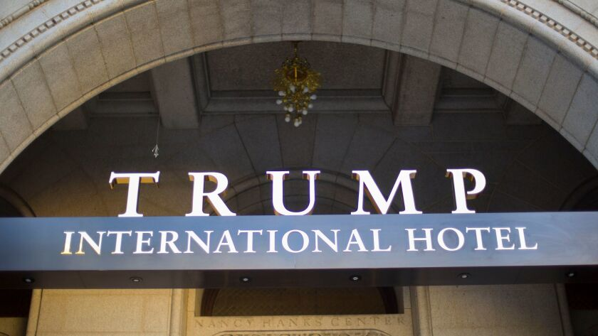 The Trump International Hotel is just blocks from the White House.
