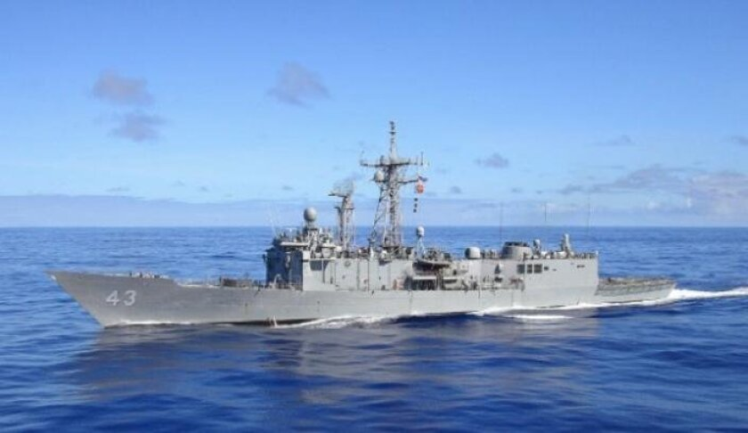 The 453-foot frigate Thach turned 30 years old in March.